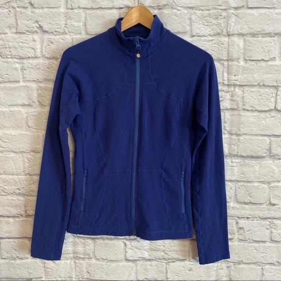 LULULEMON Shape Up Fitted Jacket Indigo Blue